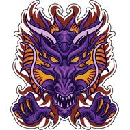 Наклейка Дракон-072, фото 1