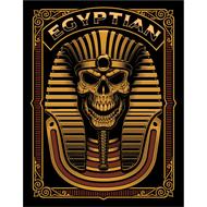 Наклейка Золотой череп фараона, фото 1