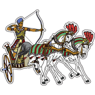 Наклейка Лучник на колеснице, фото 1