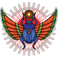 Наклейка Священный скарабей, фото 1