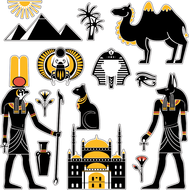 Комплект наклеек Египет, фото 1