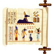 Наклейка Египетский папирус, фото 1