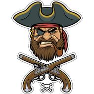 Наклейка Пират в треуголке, фото 1