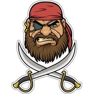 Наклейка Пират в бандане, фото 1