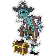 Наклейка Мертвый пират с сундуком, фото 1