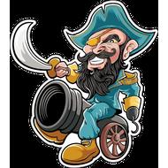 Наклейка Пират Черная борода, фото 1