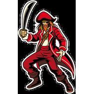Наклейка Рыжий пират, фото 1