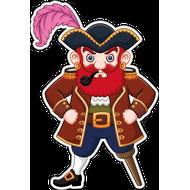 Наклейка Пират с рыжей бородой, фото 1