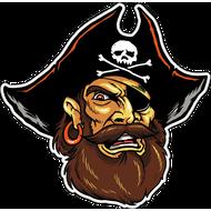 Наклейка Пират в черной треуголке, фото 1