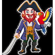 Наклейка Пират с попугаем, фото 1