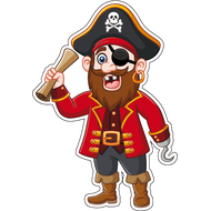 Наклейка Пират с картой, фото 1