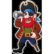 Наклейка Пират с подзорной трубой, фото 1