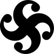 Наклейка Оберег Символ Бога Рода Сваор. Противосолонь, фото 1
