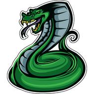 Наклейка Зеленая кобра-056, фото 1