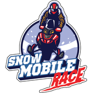 Наклейка Snow mobile Race, фото 1