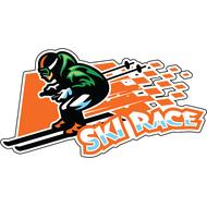 Наклейка Ski Race, фото 1