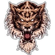 Наклейка Призрак Тигра-026, фото 1