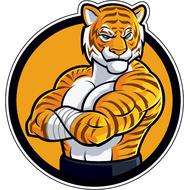 Наклейка Тигр-029, фото 1