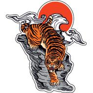Наклейка Японский Тигр-036, фото 1