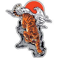 Наклейка Японский Тигр-038, фото 1