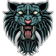 Наклейка Тигр-042, фото 1