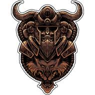 Наклейкадеревянная фигурка викинга, фото 1