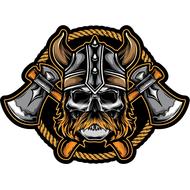 Наклейка Череп усатого викинга, фото 1
