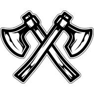 Наклейка Топоры викинга, фото 1