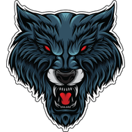 Наклейка Волк-068, фото 1