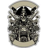 Наклейка Пират на мотоцикле, фото 1