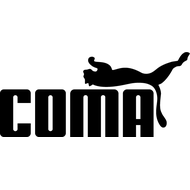 Наклейка Антибренд Puma, фото 1
