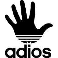 Наклейка Антибренд Adidas, фото 1
