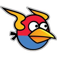 Наклейка Angry Birds, фото 1