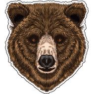 Наклейка Голова Медведя, фото 1