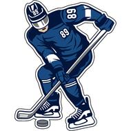 Наклейка Хоккеист в синей форме, фото 1