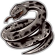 Наклейка Змея готова к броску-066, фото 1