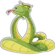 Наклейка Любопытная змейка, фото 1