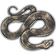 Наклейка Серая змея-073, фото 1