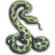 Наклейка Зеленая змея-074, фото 1