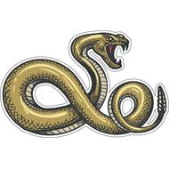 Наклейка Гремучая змея-075, фото 1