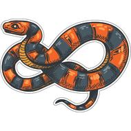 Наклейка Полосатая змея-076, фото 1