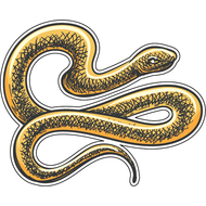 Наклейка Желтая змея-078, фото 1