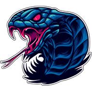 Наклейка Синяя кобра-079, фото 1