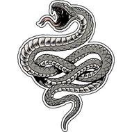 Наклейка Серая змея-085, фото 1