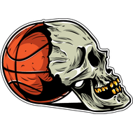 Наклейка Мяч и череп, фото 1
