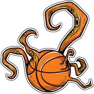 Наклейка Баскетбольный мяч, фото 1
