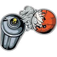 Наклейка Балончик и баскетбольный мяч, фото 1