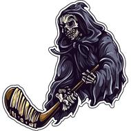 Наклейка Смерть с хоккейной клюшкой, фото 1