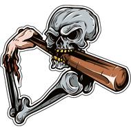 Наклейка Скелет бейсболиста, фото 1