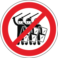 Наклейка Ментовский беспредел запрещен!, фото 1